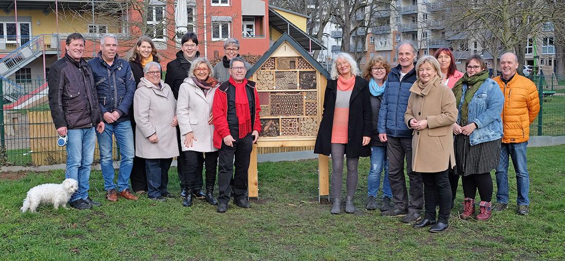 Insektenhotel in den Goethe-Anlagen aufgestellt