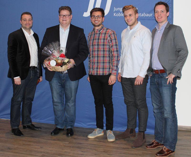 V.l.n.r.: Torsten Welling, Ralf Seekatz, Jens Münster, Justus Brühl, Simon Solbach. Foto: privat