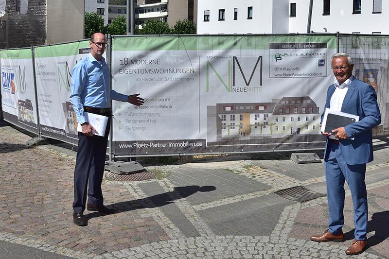 Hallerbach besichtigt Großbaustelle Fußgängerzone in Bad Hönningen