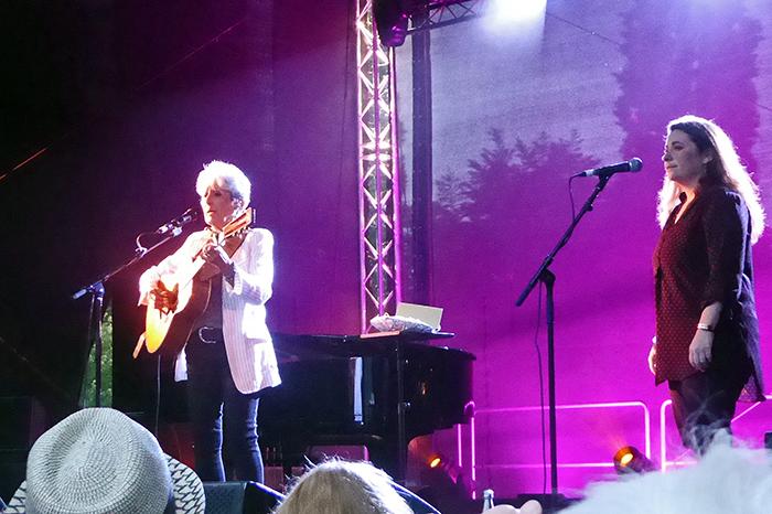 Unvergessliche Momente: Joan Baez auf Insel Grafenwerth