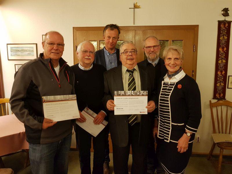 Alfons Mußhoff bleibt Vorsitzender der CDU Unkel