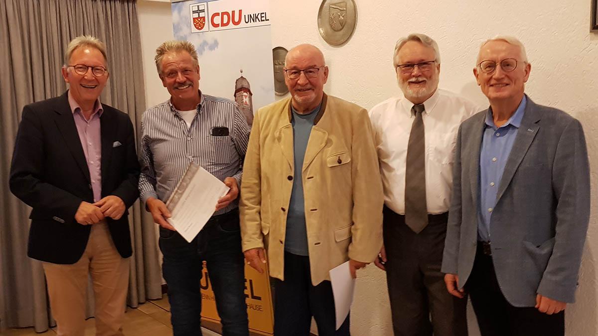 CDU Unkel ehrte langjährige Mitglieder