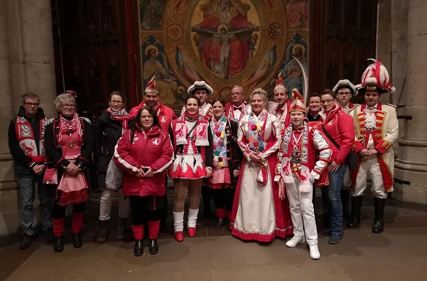 Karnevalsgesellschaft Wissen zu Besuch im K�lner Dom