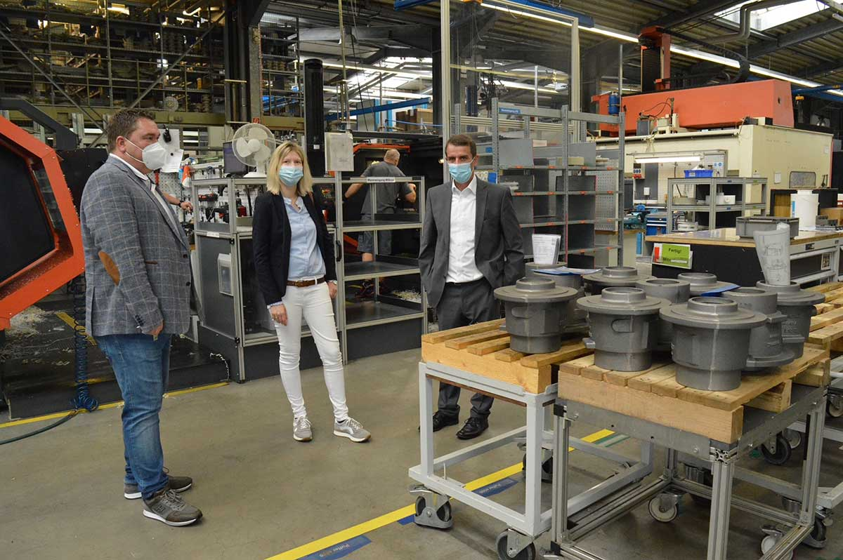 In der Produktionsstätte der Firma Munsch Chemie Pumpen. (Foto: Jenny Groß)
