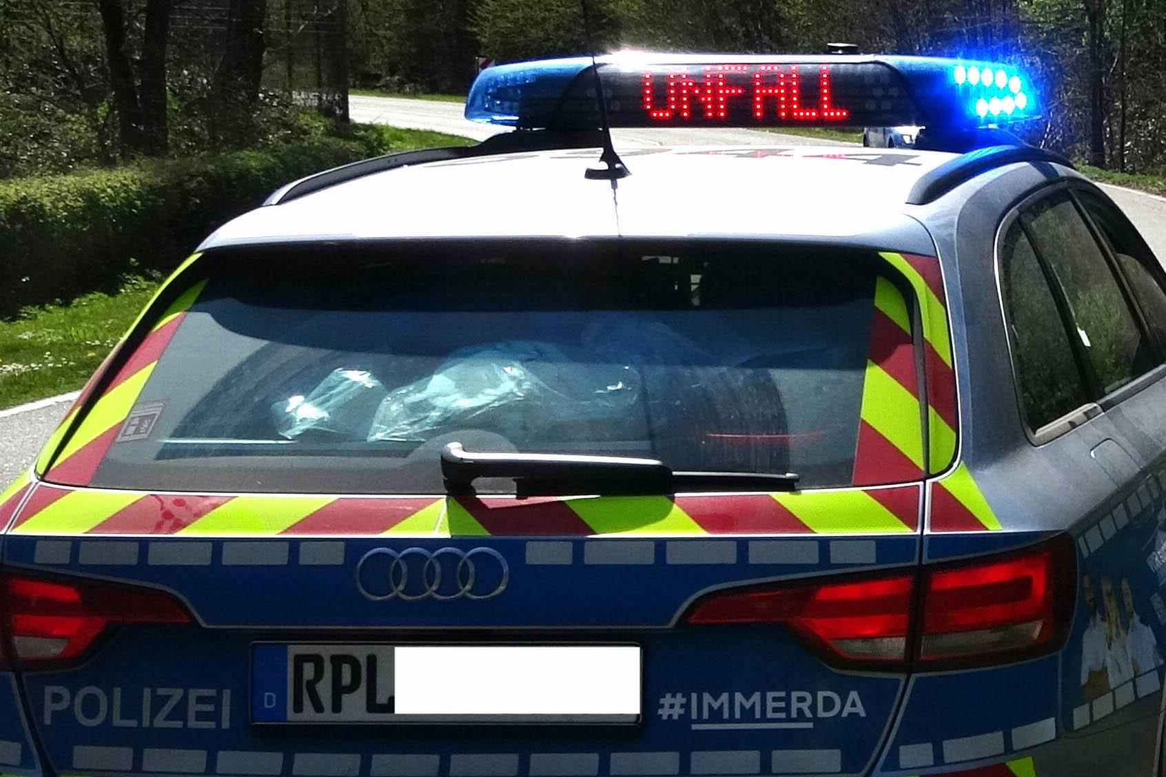 B 414 zwischen Müschenbach und Bahnhof Ingelbach nach Unfall zeitweilig gesperrt