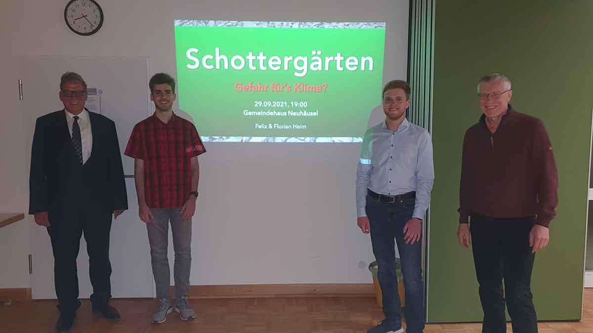 Ortsverband CDU Neuhäusel diskutiert über Schottergärten – Gefahr fürs Klima?!