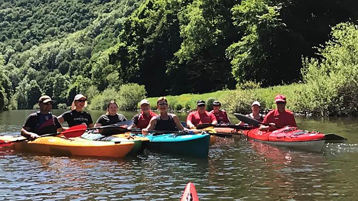 Familienausflug der Kanuten führte an die Lahn