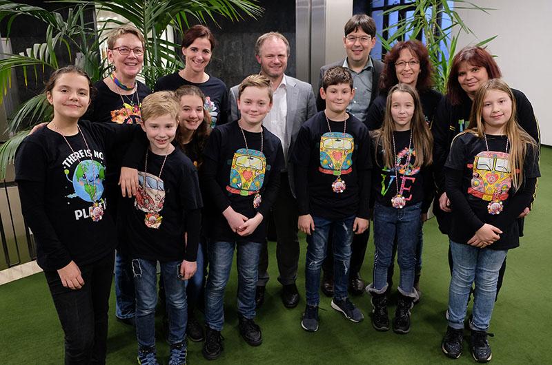 OB Jan Einig empfängt Kinderprinzenpaar aus Feldkirchen