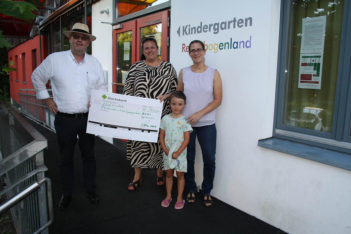 DvOE spendet 500 Euro an Förderverein Kindergarten Regenbogenland Erpel