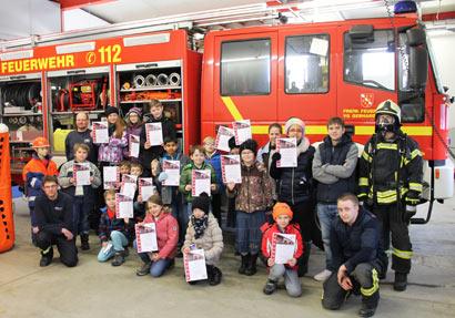 Feuerwehr Elkenroth/Nauroth sorgt f�r Projektabschluss