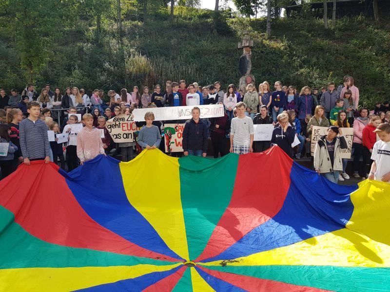 Marienstatt for future! Klimastreik um 5 vor 12