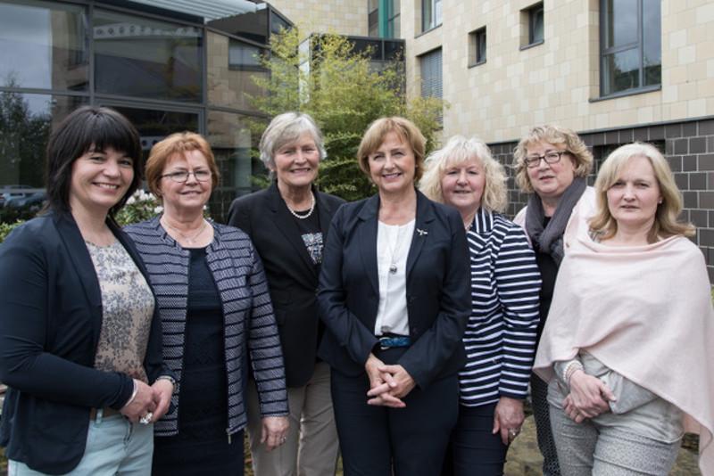 Das neue Landfrauenpräsidium (von links): Gudrun Breuer (1. Vizepräsidentin), Hella Holschbach, Gertrud Hoffranzen (2. Vizepräsidentin), Rita Lanius-Heck (Präsidentin), Adelheid Epper, Martina Wendling und Hildegard Krauß.