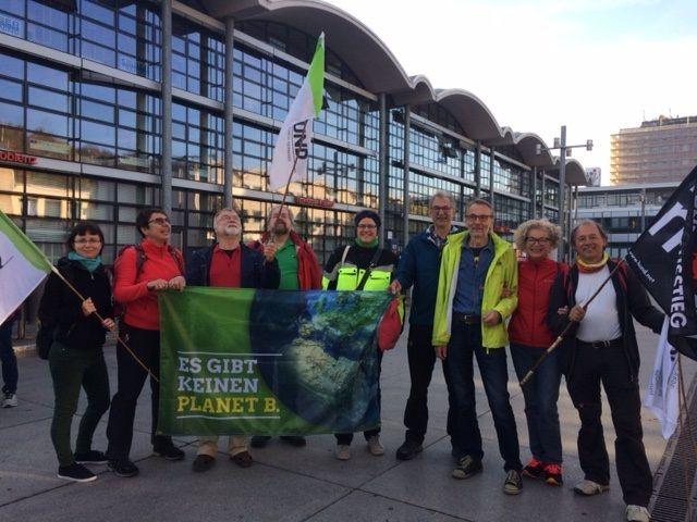 Gruppe BUND-Mitglieder und Grüne in Koblenz. Fotos. PRIVAT