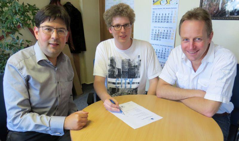 Von links: Michael Mang, Jan Kohlhas und Gerhard Wingender. Foto: privat