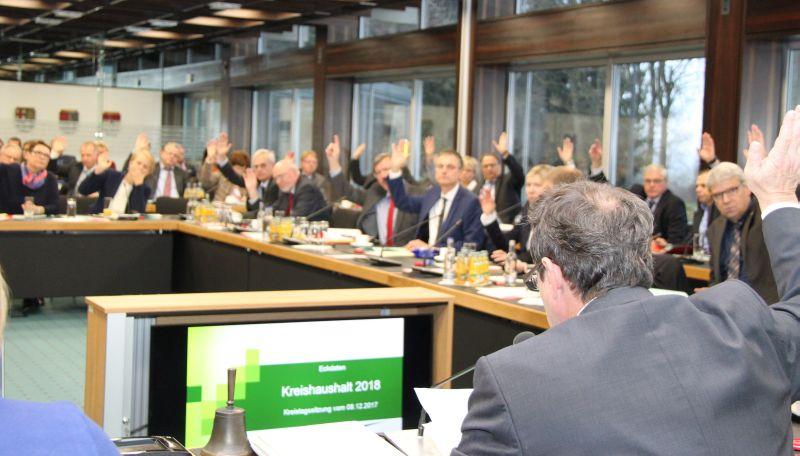 Kreishaushalt 2018 mit Stimmen aller Fraktionen beschlossen