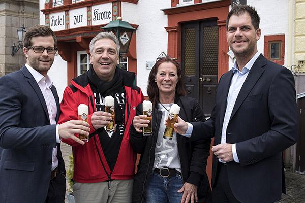 """Neuer Pächter - Hachenburger Brauerei-Ausschank """"Zur Krone"""""""