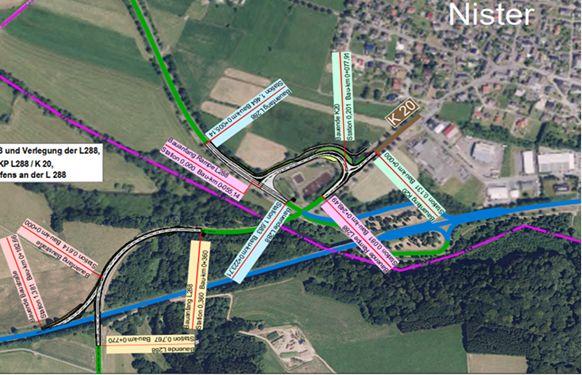 Plan der Straßenbaumaßnahme. Foto: LBM Diez