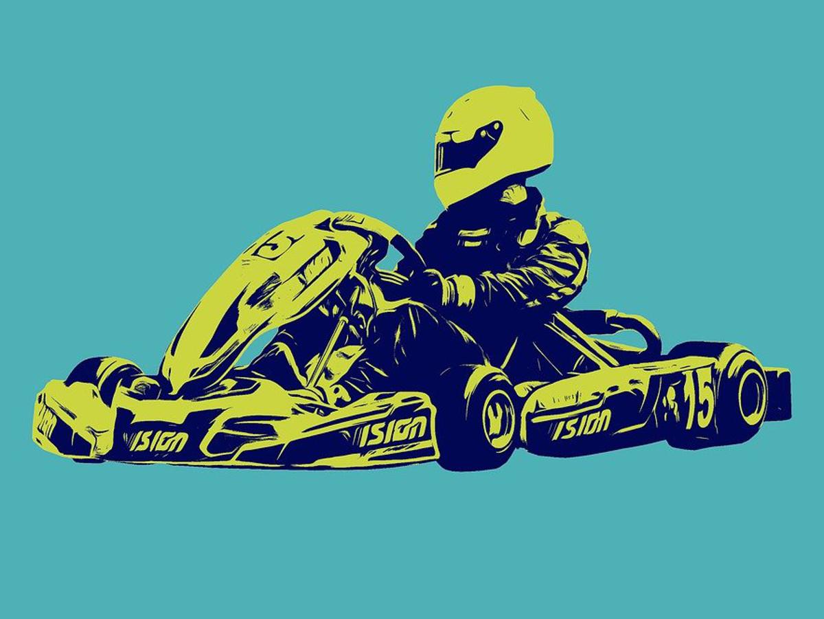 Enrico Förderer aus Leuterod kämpfte bei der Kartmeisterschaft
