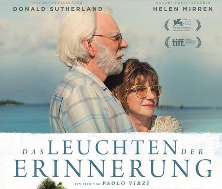 """Helen Mirren und Donald Sutherland spielen in """"Das Leuchten der Erinnerung"""" (Foto: Filmplakat/Veranstalter)"""