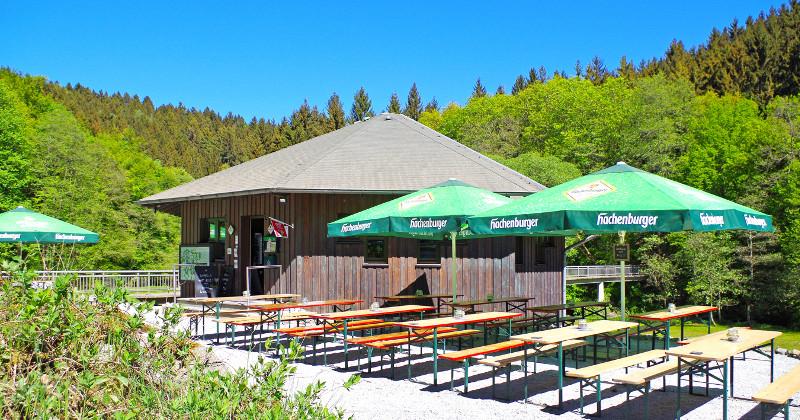 Empfehlenswerte Zwischenstation vieler Limbacher Runden: Das Café am Wilhemsteg bei Heuzert. Foto: Privat