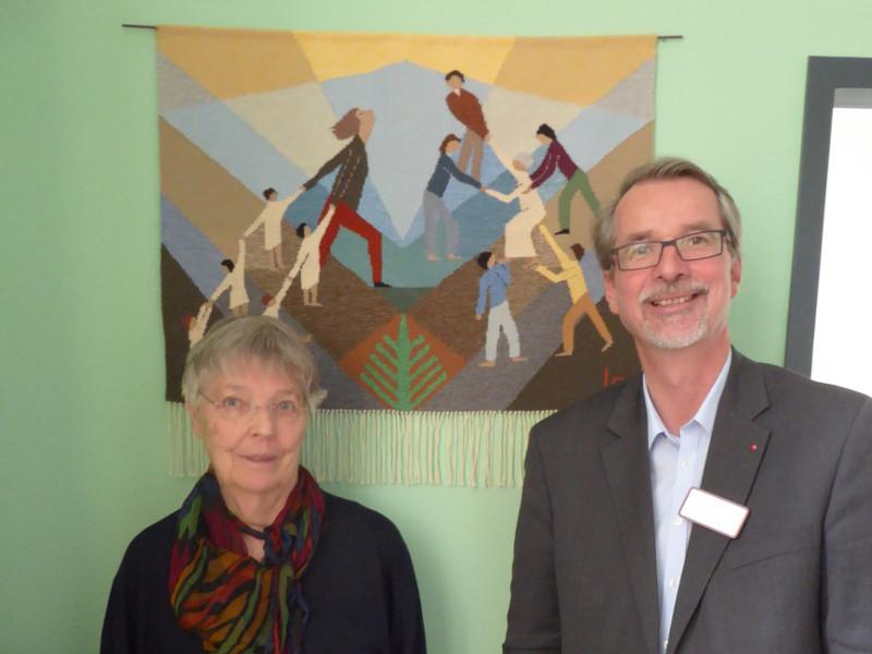 Gobelin-Ausstellung von Webmeisterin Luise Ratmann