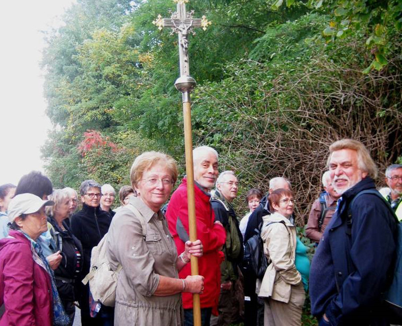 """Pilger unterwegs auf dem """" Martinsweg am Mittelrhein"""""""