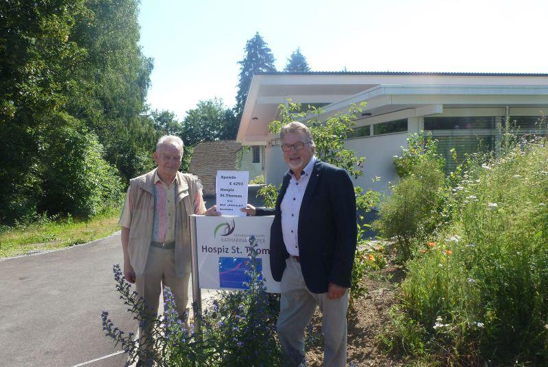 Männergesangverein spendet nach Auflösung an Dernbacher Hospiz