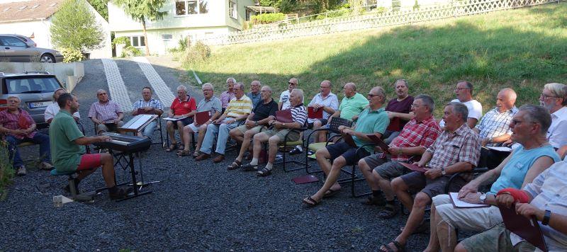 Sommer-Sonne beim Linzer Männergesangverein