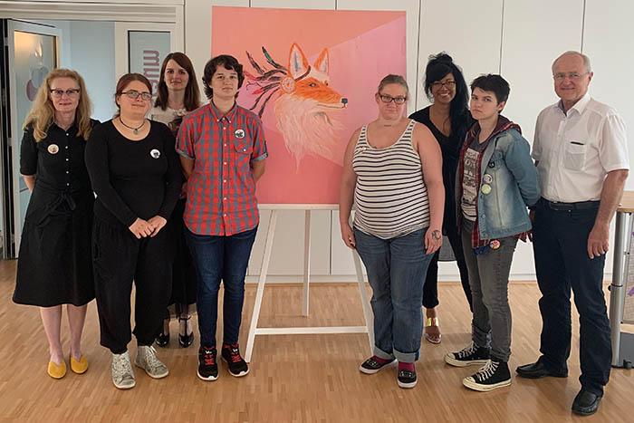 Kunstausstellung aus Projekt MOEWE im Jobcenter Neuwied