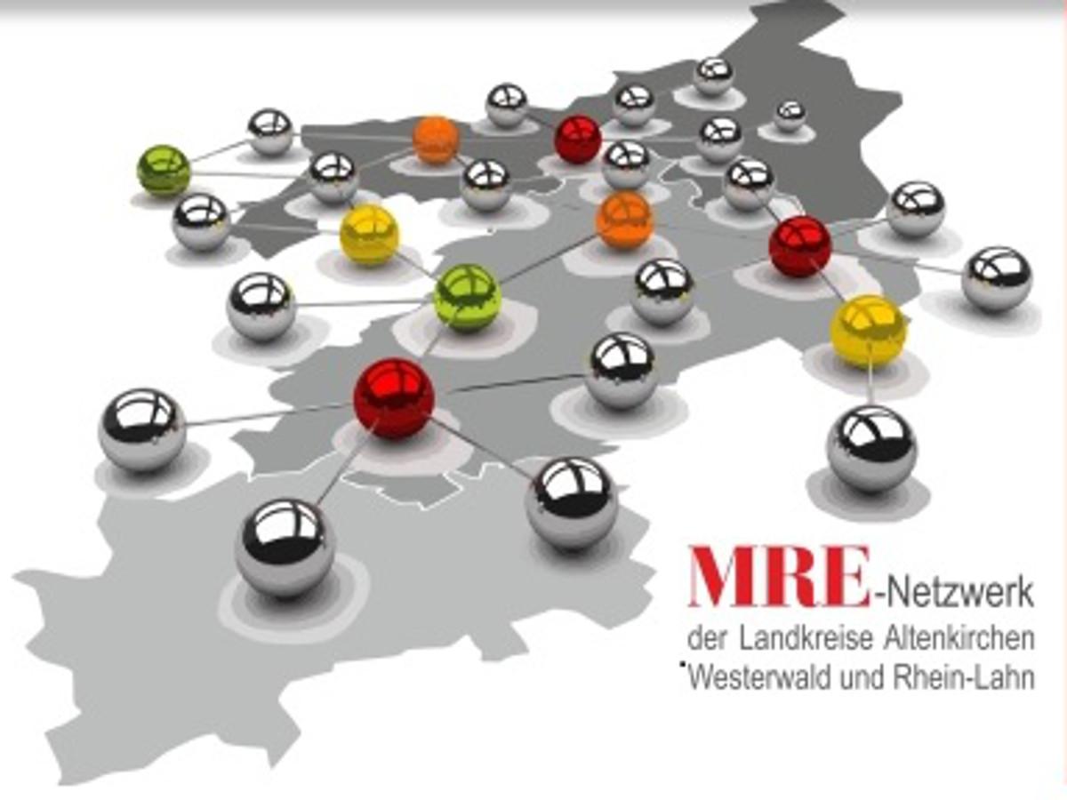 MRE-Netzwerk der Landkreise Altenkichen, Westerwald und Rhein-Lahn wird die Siegel-Verleihung nachholen. Grafik: MRE-Netzwerk