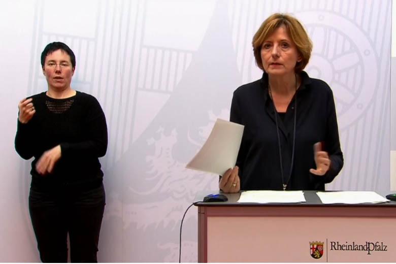 Malu Dreyer in de Pressekonferenz. Foto: Wolfgang Tischler