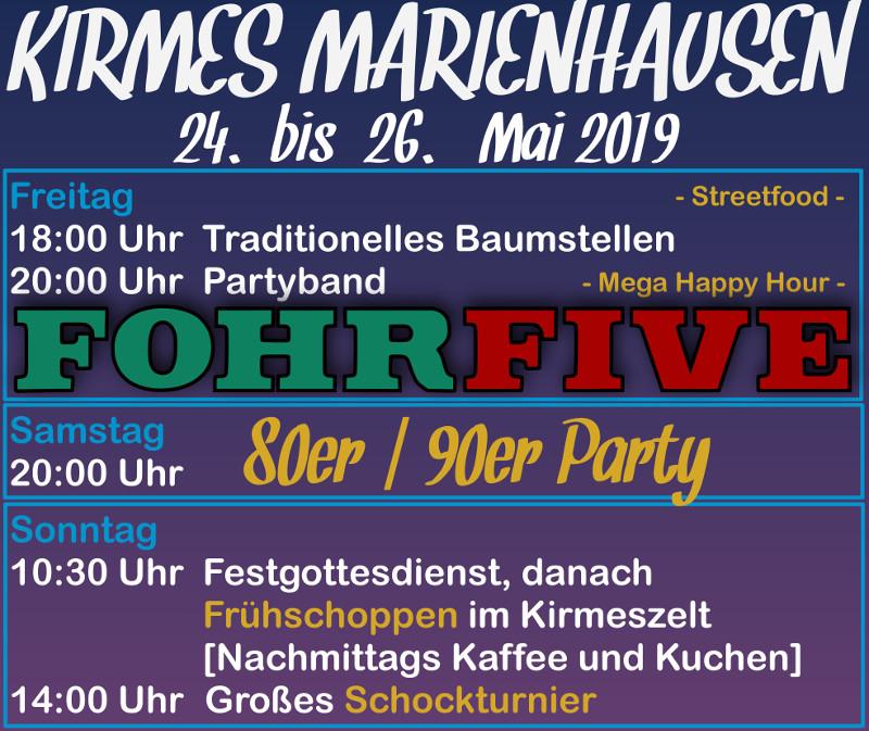 Marienhausen feiert Zeltkirmes