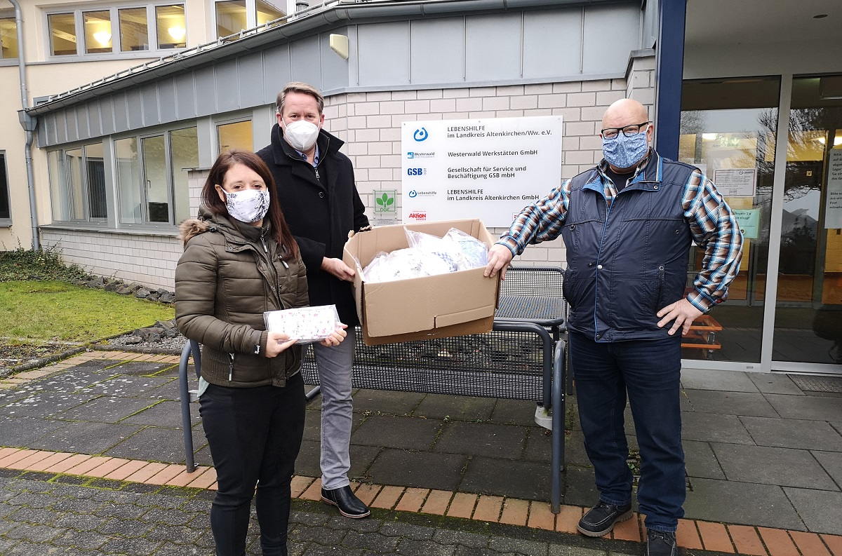 400 Masken für die Lebenshilfe von ehrenamtlichen Näherinnen