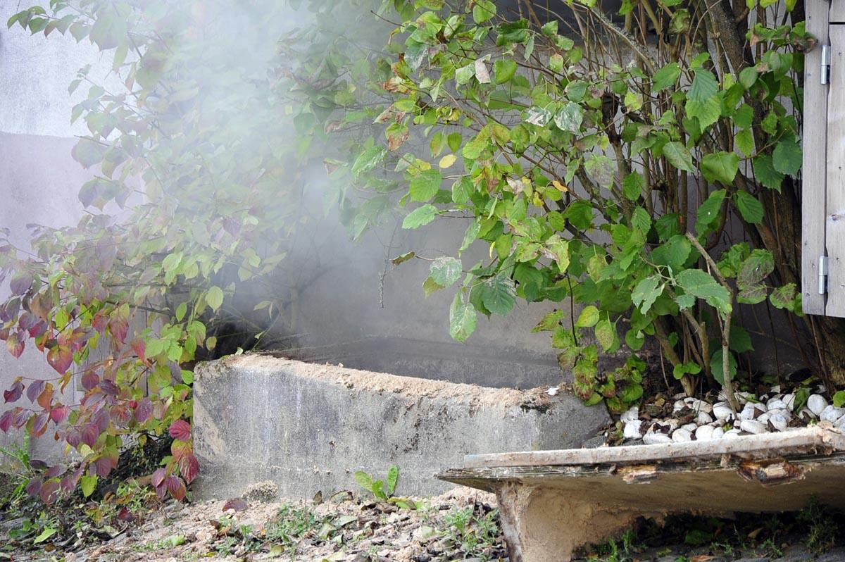 Brand in einem Spänebunker: Löschzüge Mehren und Weyerbusch im Einsatz