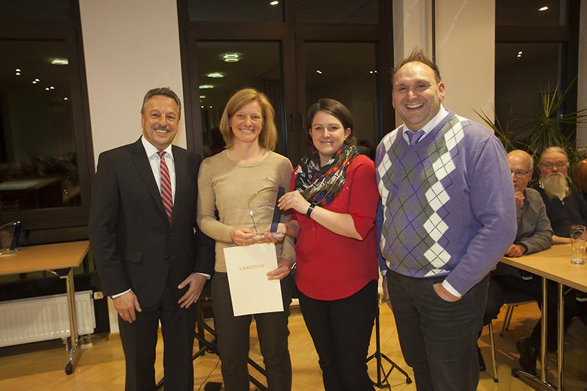 Sie nahmen stellvertretende für den Förderverein die Auszeichnung entgegen. Foto: Wolfgang Tischler