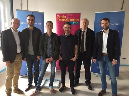 FDP Montabaur besichtigt junge Unternehmen in Montabaur