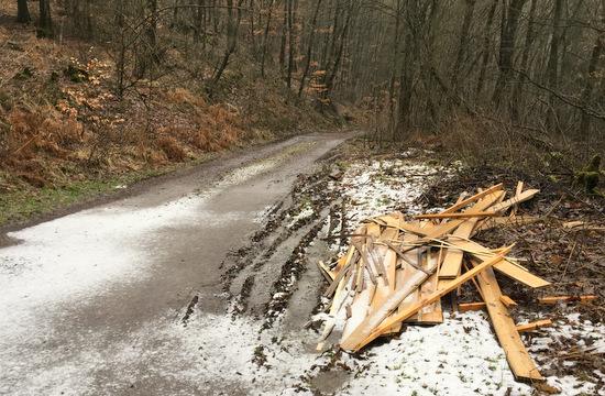 Vandalismus und M�llablagerung in der Gemarkung Pracht