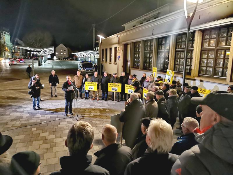 Sven Lefkowitz besuchte 85. Bahnlärm-Demo in Neuwied