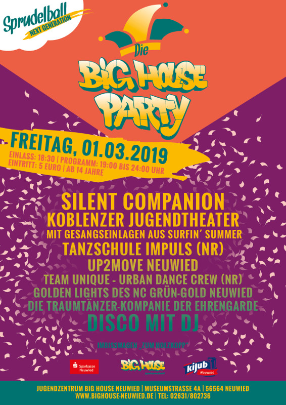 """Sprudelball - Next Generation"": Karnevalsparty im Big House"