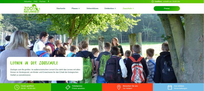 Internetseite des Neuwieder Zoos erstrahlt in neuem Glanz
