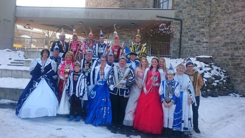 N�rrisches Gipfeltreffen beim Karnevalsverein Scheuerfeld