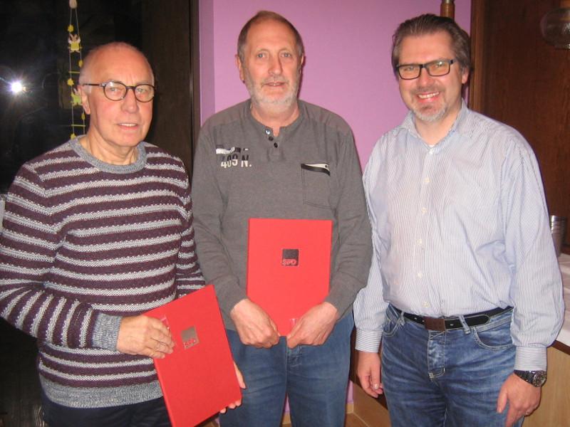 Helmut Meyer und Hubert Klein seit 40 Jahren in der SPD