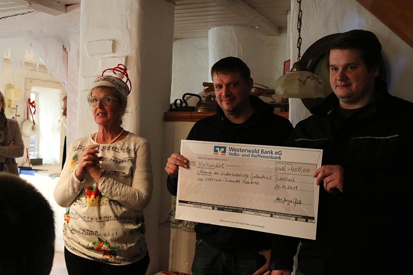 4.036,10 Euro Spenden Kinderkrebshilfe Gieleroth generiert