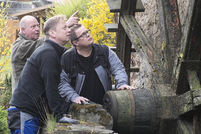 Max-Josef Heumann, Thomas Herschbach und Christoph Büsch (von links) vom Vorstand des Verkehrsvereins Waldbreitbach