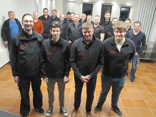 Der neugewählte Vorstand (von links nach rechts): Jürgen Heller (2. Vorsitzender), Thomas Linka (Schriftführer), Peter Reusch (Vorsitzender), Patric Steffen (Geschäftsführer). Foto: Verein