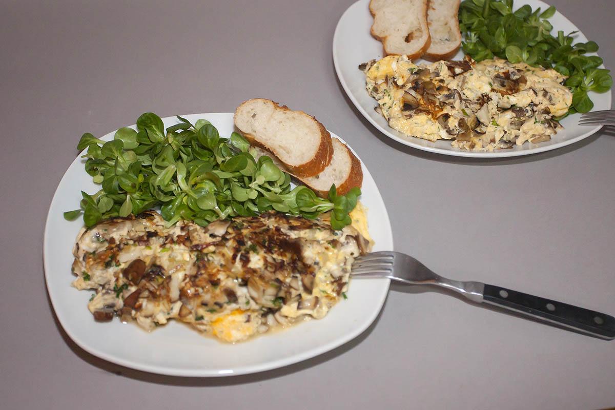 Westerwälder Rezepte: Eieromelette mit Pilzen