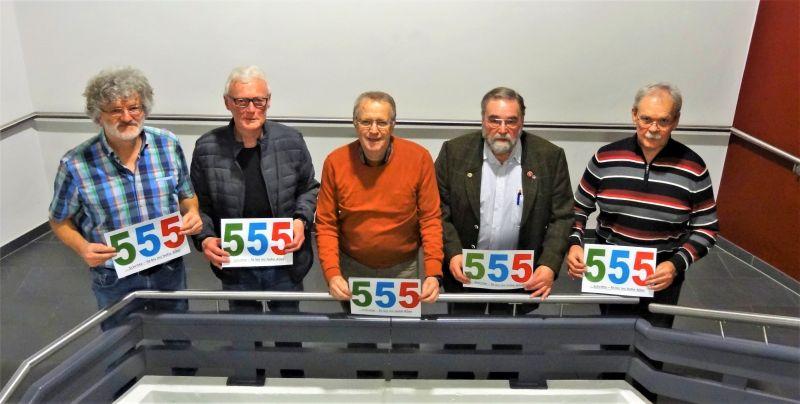 Die Organisatoren der 555er freuen sich nach Fertigstellung des Jahresprogrammes auf die Begegnungen mit vielen hochaltrigen Seniorinnen und Senioren. Foto: privat