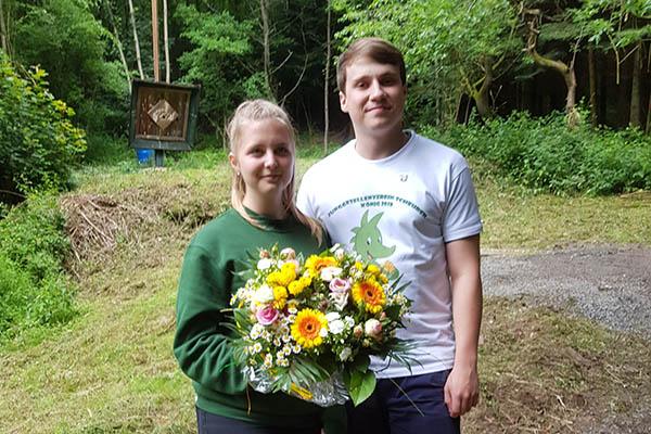 Tobias Gebauer und Saskia Corvinus sind JGV-Königspaar
