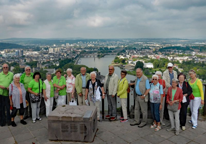 Mitglieder des Bad Marienberger Westerwaldvereins auf der Festung Ehrenbreitstein. Foto: privat