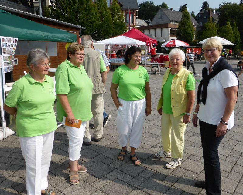 Mitglieder des WWV Bad Marienberg mit Bürgermeisterin Beate Willwacher (rechts). Foto: privat
